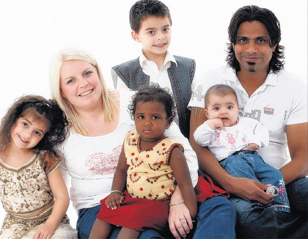 Janet and Nelson with their children (l-r) Lydia (5), Phoebe (3), Soloman (7) and Zipporah (18 months)