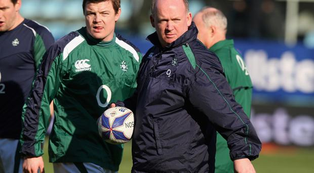 Brian O'Driscoll and Ireland coach Declan Kidney