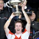 St.Pats Captain David Lavery lifts the McRory Cup