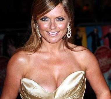 Former Spice Girl Geri Halliwell at last night's star-studded premiere of Kenneth Branagh's new movie, The Boat That Rocked, at the Odeon in London's Leicester Square.