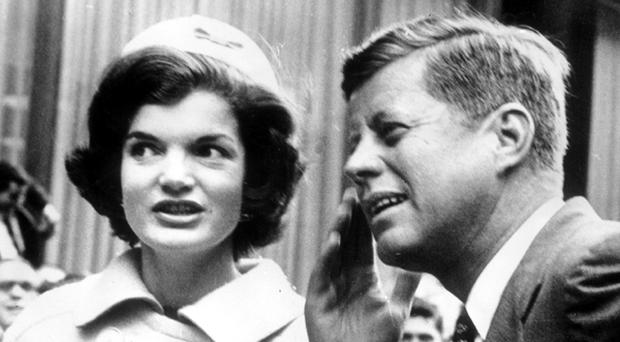 John F Kennedy with his wife Jackie