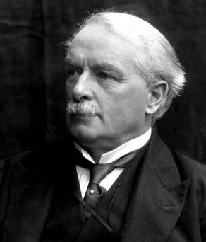 Liberal Chancellor David Lloyd George who in 1908 tabled the Old Age Pensions Act