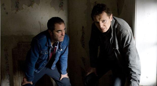 James Nesbitt and Liam Neeson in a scene from Five Minutes Of Heaven