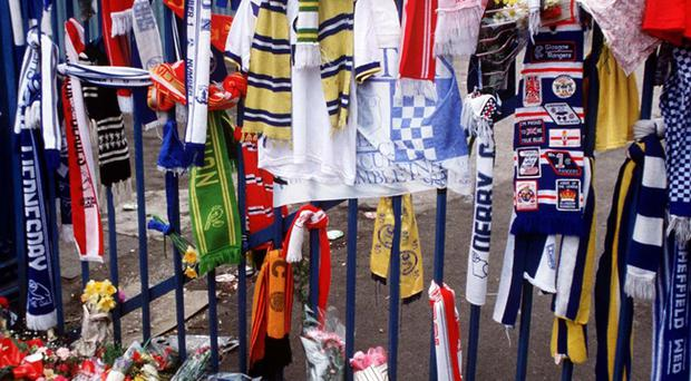 A sea of flowers at Hillsborough stadium, in memory of the Liverpool fans who died at Hillsborough