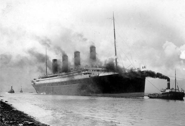 Headed for disaster: the Titanic leaving the dock at Southampton in 1912