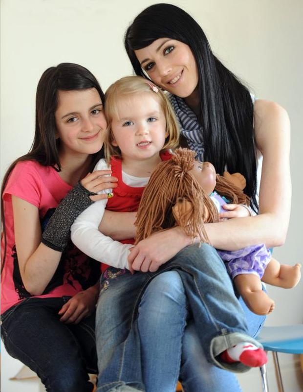 Happy Family: Kelly Anne with Tiegan and little Felicity Boo