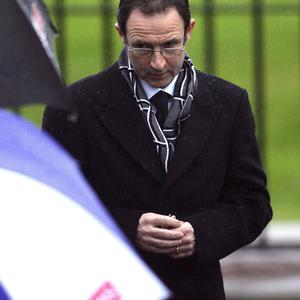 Martin O'Neill at George Best's funeral