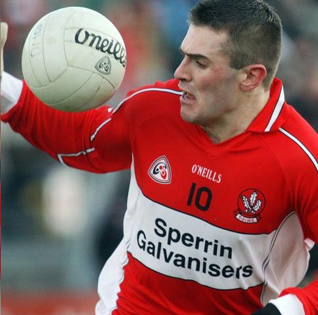Mark Lynch is hoping to play a part in helping Derry to retain their National League title