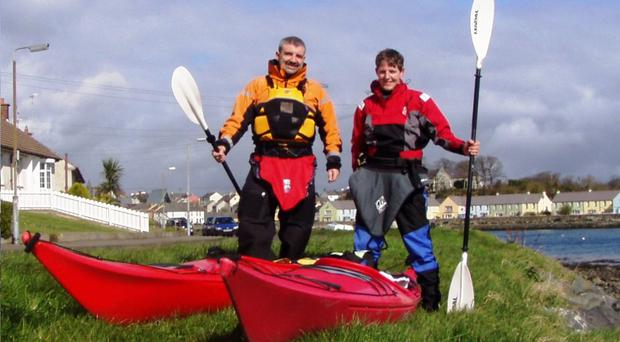 Colin Graham and Robert Beck will paddle145 miles up Ireland's east coast