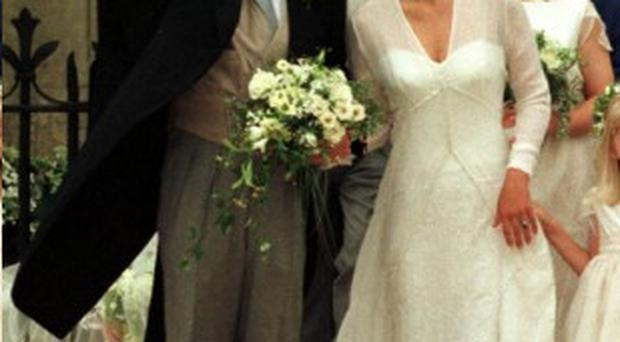 Timothy Knatchbull with his bride Isabella Norman
