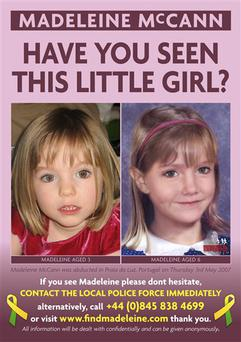 This illustration released Friday, May 1, 2009 by Harpo Productions Inc., shows a photo, left, and an age-progressed image, right, of Madeleine McCann, the British toddler who was 4 when she disappeared from a hotel room in Portugal on May 3, 2007. The age-progressed image, created by the National Center for Missing and Exploited Children, depicts what Madeleine may look like at age 6. Madeleine's parents Kate and Gerry McCann taped an interview with Oprah Winfrey on