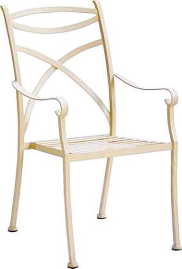 <b>Kit Stone</b><br/> Made from wrought iron, the Cassis carver chair is kind to your back and easy on the eyes. Though pricy, it's robust and rustproof, so you can be sure this is an investment and not a silly summer fling.<br/> <b>Price</b>: £119.95 www.kitstone.co.uk