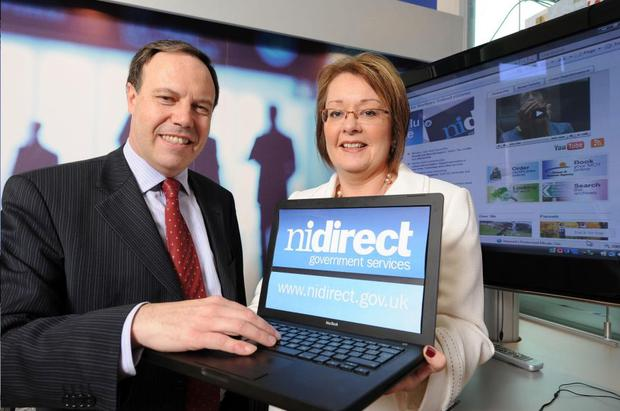 Finance and Personnel Minister Nigel Dodds officially launched the new government website. Also pictured is Donna Magee, Interim Chief Executive of the Consumer Council