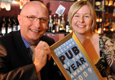 Colin Neill, chief executive of the FRLT, with Lindsay Fergus, Belfast Telegraph business editor