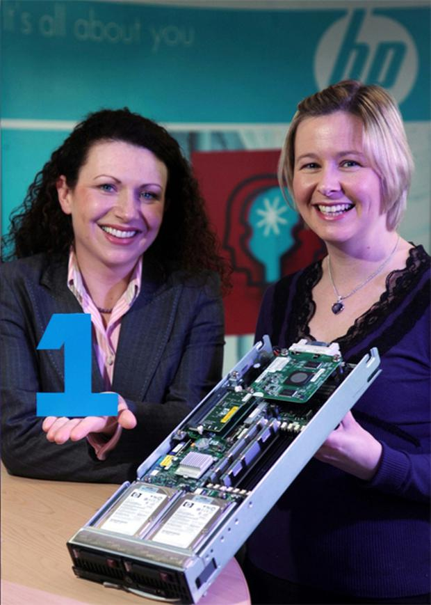 Mary Lou Nolan, director of sales, HP Ireland, joins Lindsay Fergus, Belfast Telegraph business editor, at the launch of the campaign