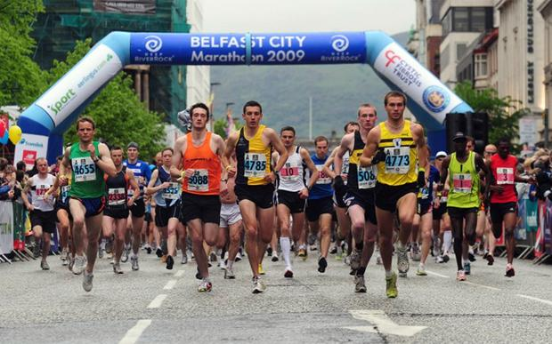 In common with the starting line at the Belfast Marathon, you have to be quick off the mark to catch the attention of a website browser