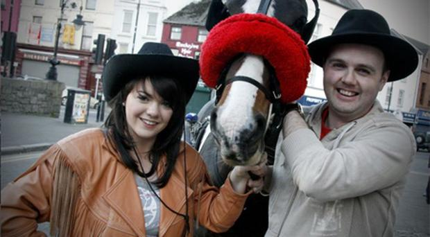 Mairead Quigley plays Calamity and Damien Lavery is Wild Bill Hickock in Newry Musical Society's production of Calamity Jane at the Town Hall next week