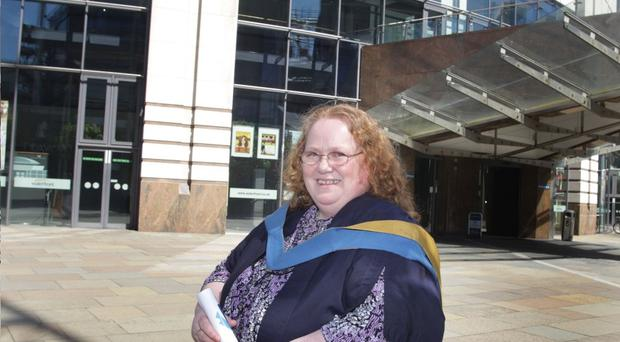 Dorothy Nelson pictured at the Waterfront Hall who recently graduated with the Open University