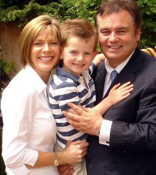 Holmes is where the heart is: Eamonn and Ruth with their seven-year-old son Jack