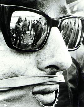 In disguise. Ulster Workers Council Strike: 1974