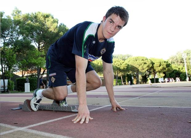 Andrew Little is gunning for club and international team-mate Kyle Lafferty but will firstly turn his sights on Italy