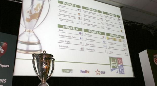 Europe's top clubs learned their fate yesterday at the draw for the Heineken Cup in France