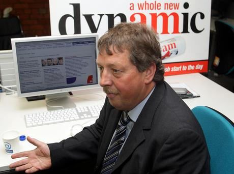 Sammy Wilson in the Belfast Telegraph's digital suite