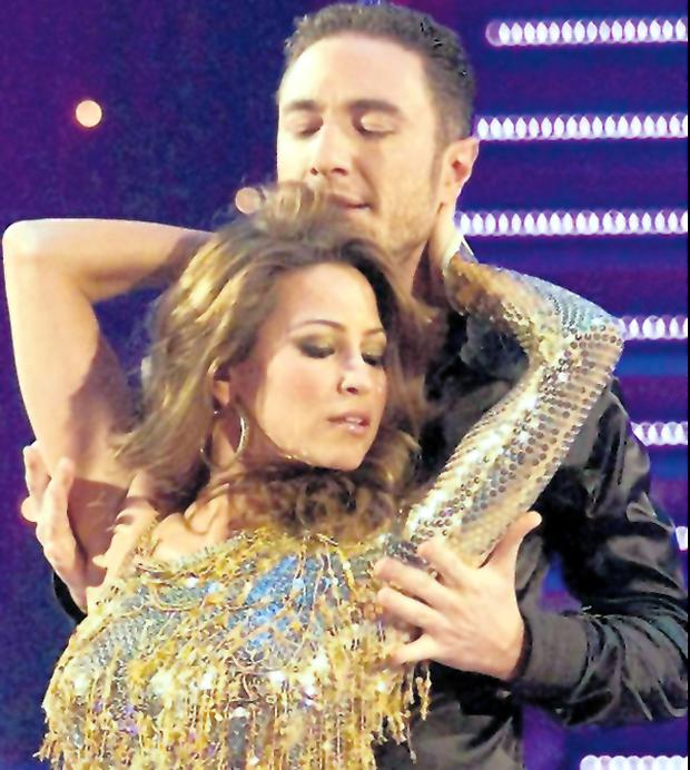 Vincent Simone with Rachel Stevens