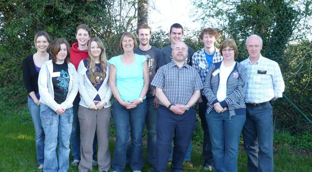The St Andrew's Church team, including David Maxwell (far right) are going to Peru