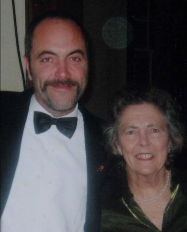 Together: James Nesbitt and mum