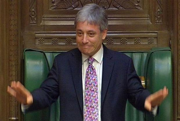 John Bercow MP addresses the House of Commons