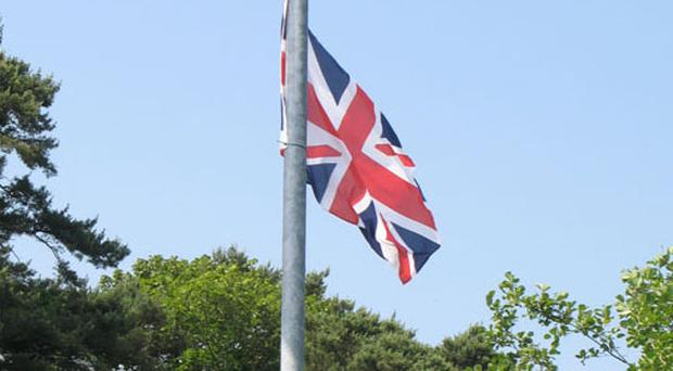 A Union flag on the outskirts of Kilcooley estate