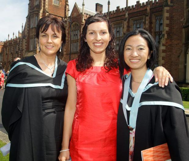 Phrasie McLaughlin, Gillian Browne and Hazel Gallo who all achieved an Advanced Standing Diploma in Paediatric Nursing.