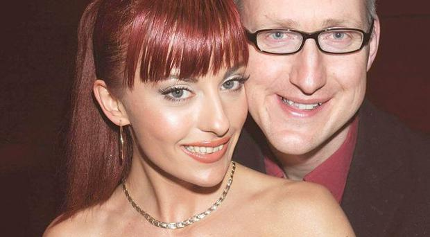 Lembit Opik with cheeky girl Gabriella Irimia