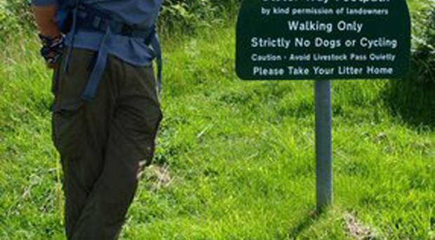 Keith Brownrigg has raised over £700 after walking the Ulster Way