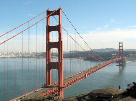 Golden Gate Bridge in San Francisco where micro-financing website Kiva is based