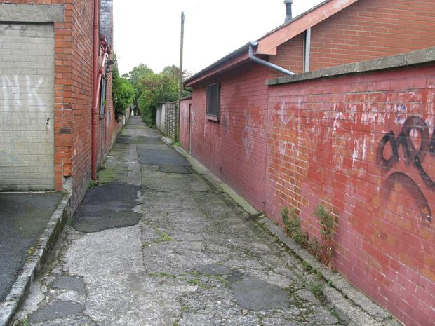 Youths are engaging in anti-social behaviour in alleyways and other parts of Knockbreda Park