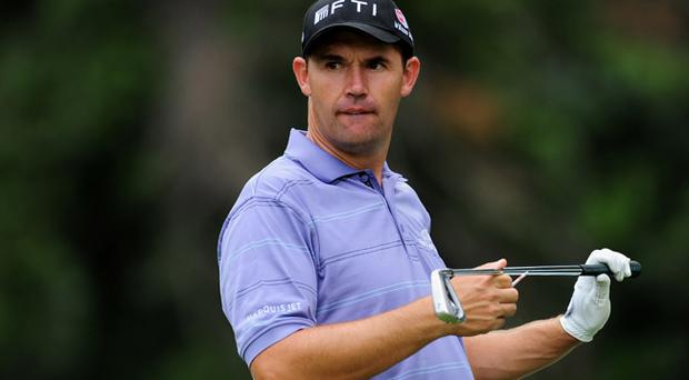 Padraig Harrington during a practice round at Firestone