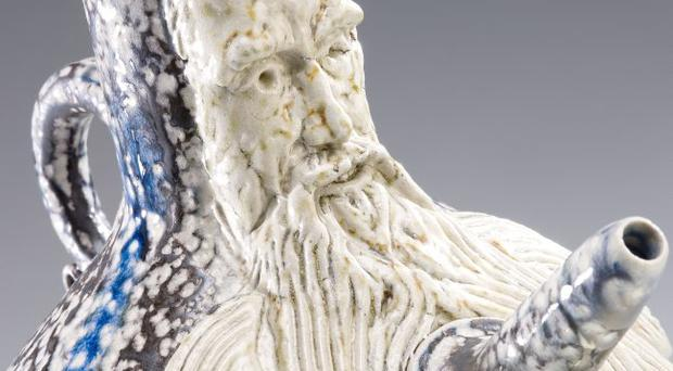 Detail from Self Portrait Toby Jug by Peter Meanley
