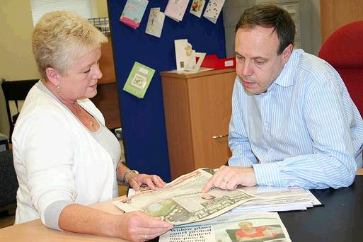 United: Nigel Dodds MP meets Ella Coiley at his Shore Road constituency office