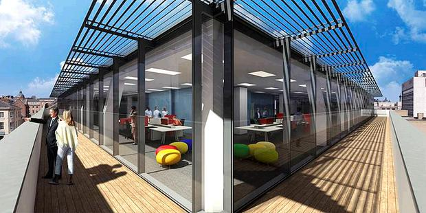 Star Exchange's stunning glass roof extension, with external viewing deck