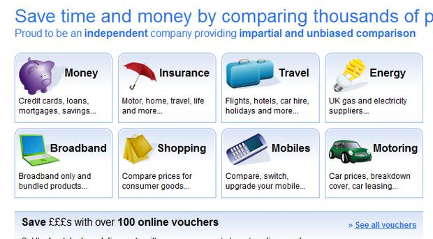 Moneysupermarket.com: one of the many price comparison websites