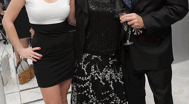 Chloe Madeley seen recently with her famous mum and dad