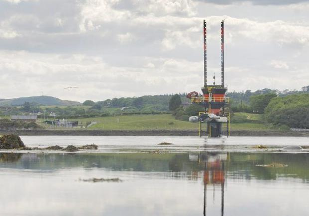The tidal turbine at Strangford Lough, Co. Down