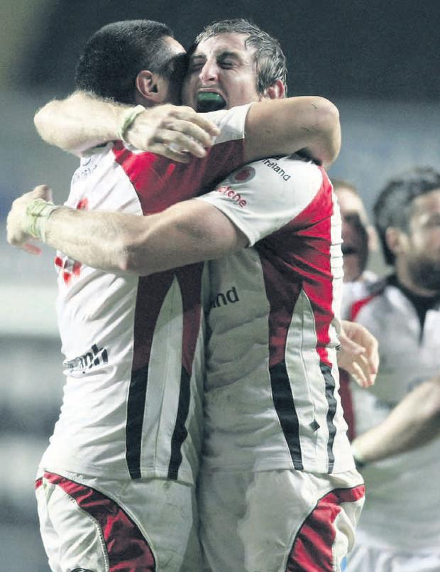 Ulster's Ed O'Donoghue and Tamaiti Horua helped shoot down the Ospreys on Saturday