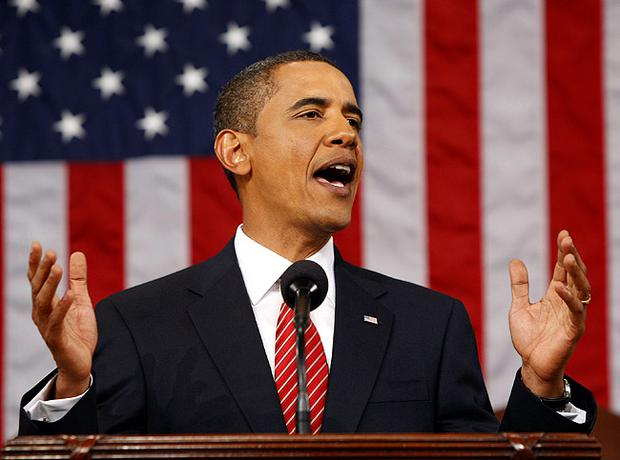 President Barack Obama addressing US Congress