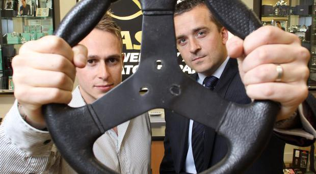 Adam Carroll and Niall Cooney of Fast-Fix at the opening of the company's new store