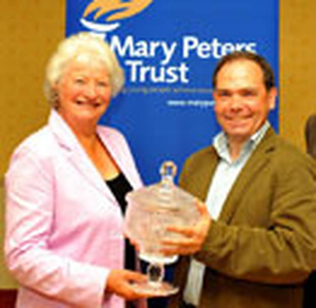 Dame Mary Peters and Kirk Halliday