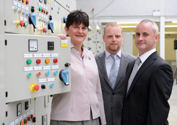 Enterprise Minister Arlene Foster officially opened a new manufacturing facility for TES, as part of a £4.4 million investment by the |company, with £345,000 of support Invest NI. With the minister are Brian Taylor and Noel McCracken, TES joint MDs, and Mary Gormley,Invest NI Western Regional Office manager MICHAEL COOPER
