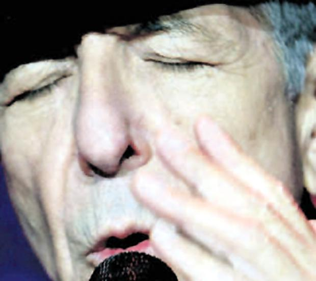 Veteran Leonard Cohen performs at the Odyssey